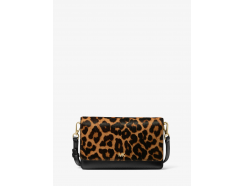 Leopard Calf Hair and Leather Convertible Crossbody Bag