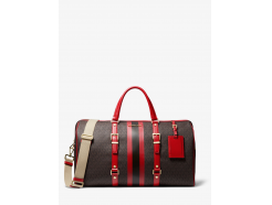 Bedford Travel Extra-Large Logo Stripe Weekender Bag