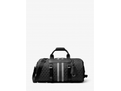 Brooklyn Logo Jacquard Convertible Duffel Bag