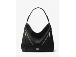 Evie Large Pebbled Leather Shoulder Bag