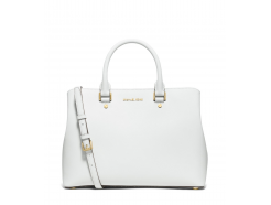Savannah Large Saffiano Leather Satchel